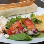 Toasted Wrap and side salad