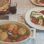 artichokes and Greek salad