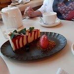 cheese cake witch with raspberry glaze - sernik z malinowa polewą