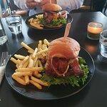 Jucy Lucy hamburger