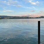 Vistas sobre la ría de Pontevedra desde la terraza restaurante Pedramar (Combarro-Galicia)