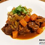 Slow cooked Irish beef shank stew with Udomsuk stout