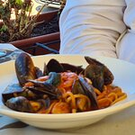 Pasta with octopus & mussels