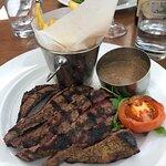 Flat iron steak (cooked medium rare)
