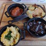 assiette découverte(diot,tartiflette,fricasse et polenta)