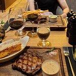 Rib eye steak with potato gratin and bearnaise