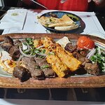 Grill platter for two.