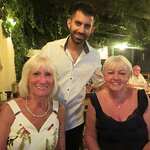 me and my friend carole and Manos, Georges son