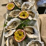 Oysters with passion fruit at Tre Fontane in Tropea