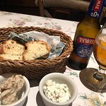 Delicious bread and spreads
