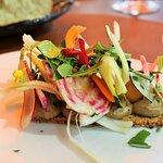 tartine de légumes