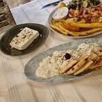 Tzatziki salad, chicken Suflaki & feta