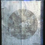 The original WW2 airfield map in the Kings Arms, Winkleigh.