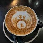 Fun piggy in our coffee