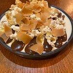 Dessert (special) - panna cotta, fudge shavings and toffee sauce