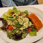 Salad with smoked salmon starter