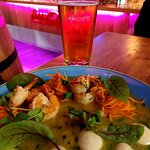 Beer & Tiger Prawns at Beef & Pepper in Warsaw (26/09/21)
