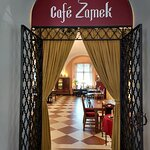 Entrance to Cafe Zamek - Warsaw (28/Sept/21).