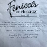 Fenicci's offers without a doubt the best Italian fare in Hershey