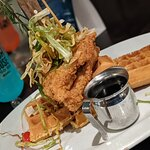 The sage chicken and waffles