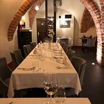 Located in Old Town Warsaw, the restaurant has an elegant ambiance.