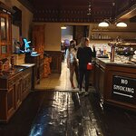 At the serving bar