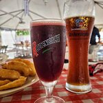 Actually Lindemans Framboise, wrong glass, but correct shape.