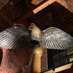 The eagle above our seating table.