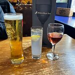 Refreshing Peroni, wine and Cointreau