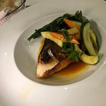 Bass with vegetables