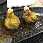 Dumplings (vienen más en la ración, pero nos acordamos de la foto cuando quedaba poco de ella)