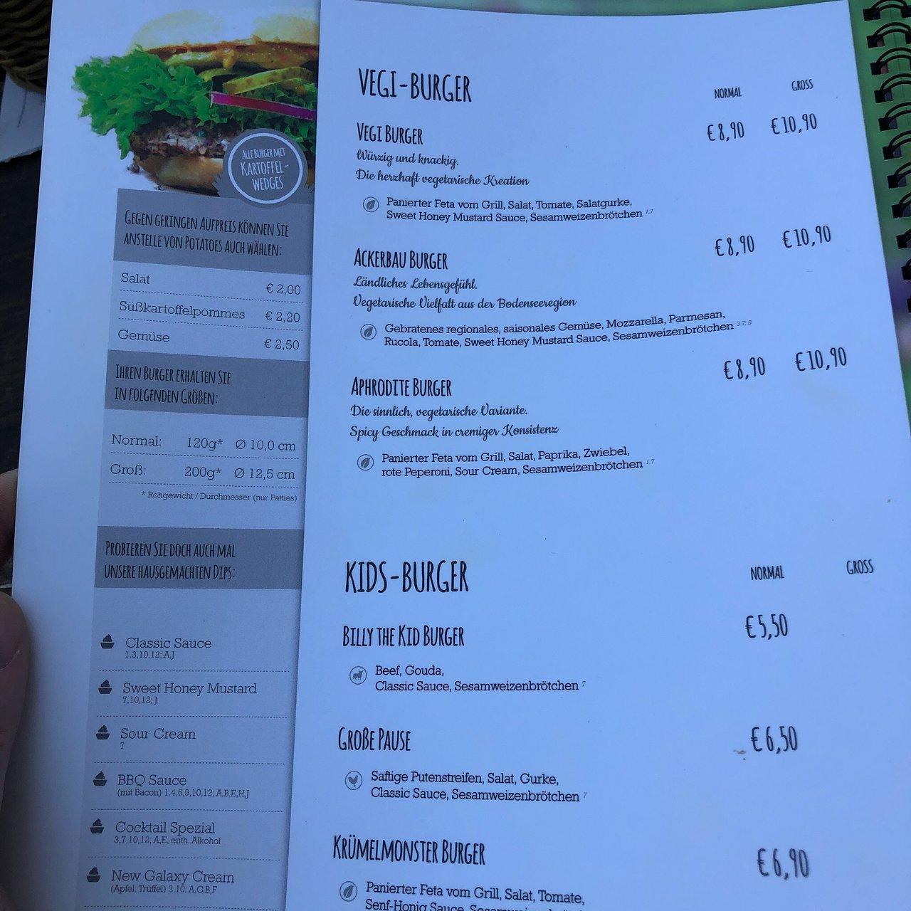 veggie burger – Aufnahme von DOM Konstanz   Restaurant Café Bar ...