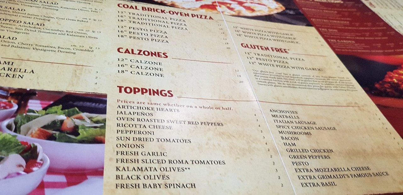 1809 Menu the 10 best italian restaurants in sugar land - tripadvisor