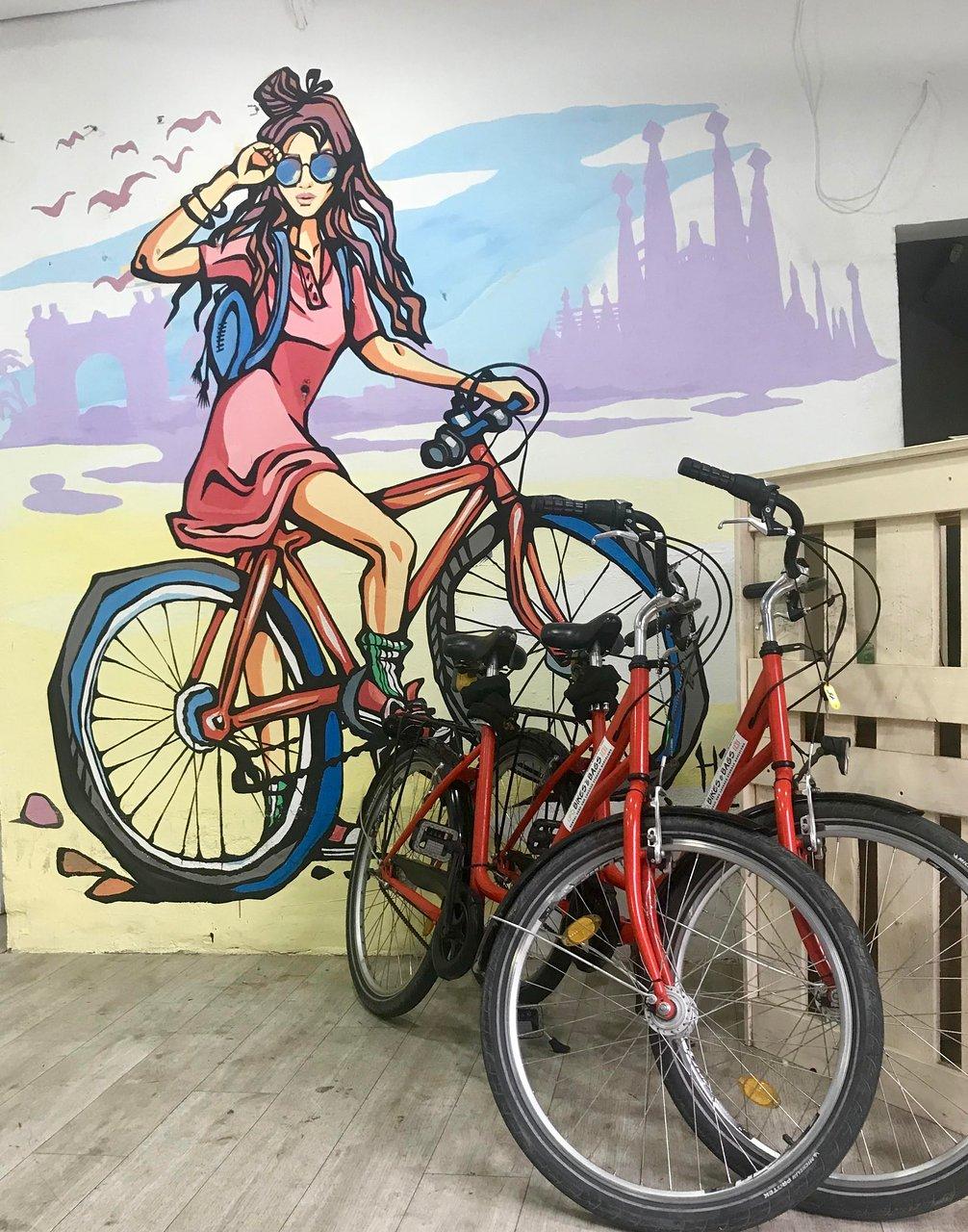 Fahrradverleih von Rentabike in Barcelona immer wieder zu