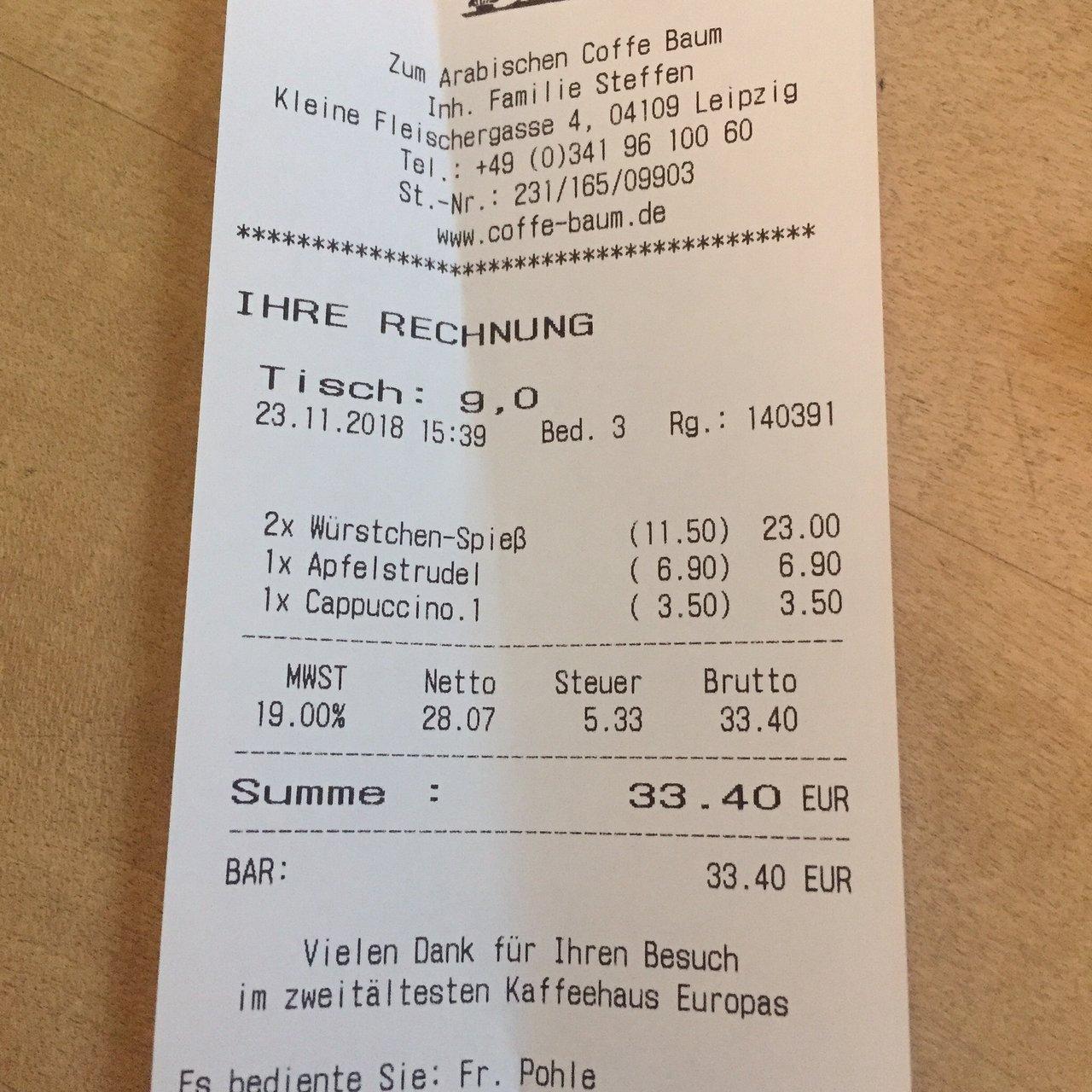 Haus Zum Arabischen Coffe Baum Leipzig 2020 All You Need To Know Before You Go With Photos Tripadvisor