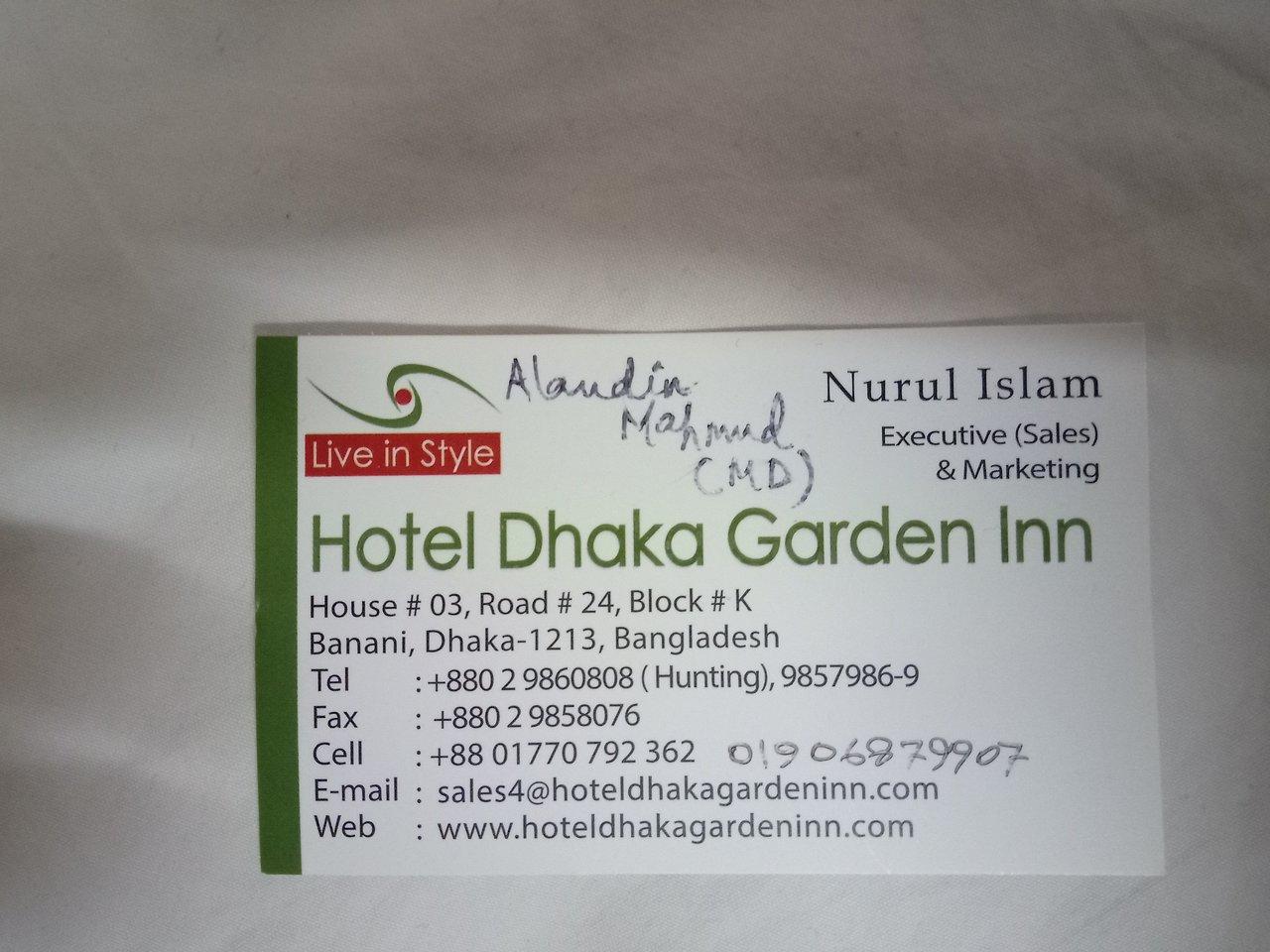 HOTEL DHAKA GARDEN INN $41 ($̶7̶5̶) - Updated 2019 Prices