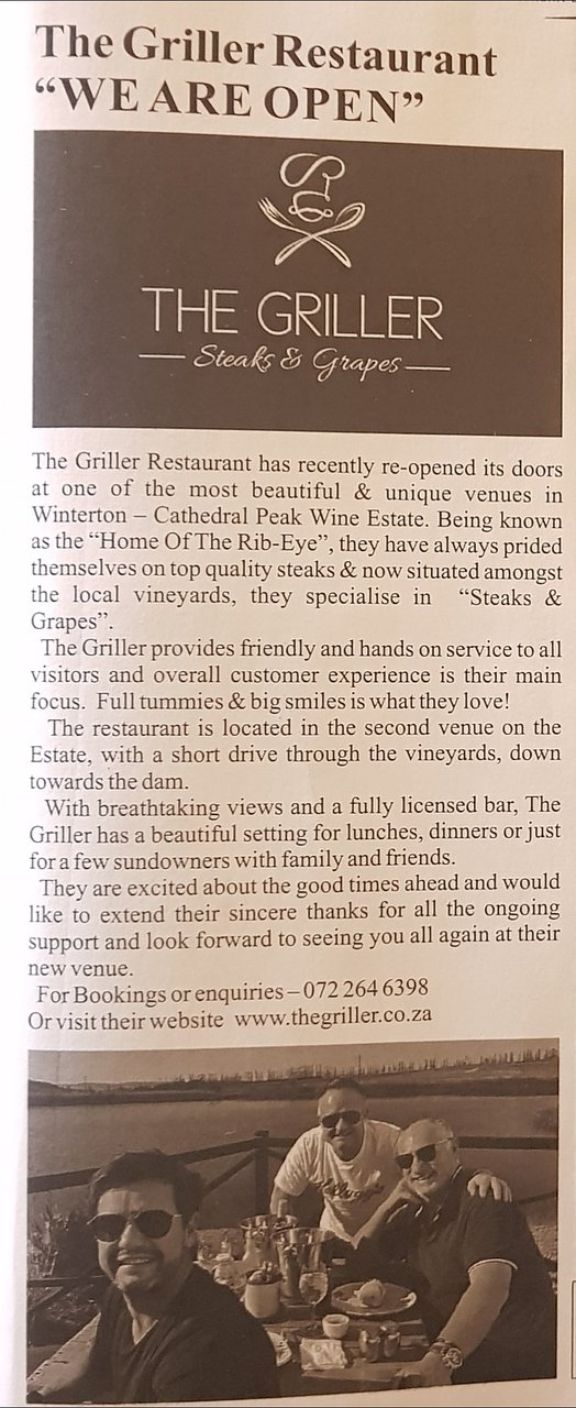 The Griller Hits The Front Page 😎 Awesome Write Up By The Winterton News