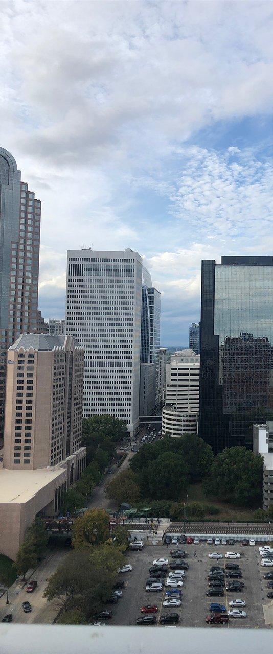 Hervorragender Blick über die Skyline von Charlotte