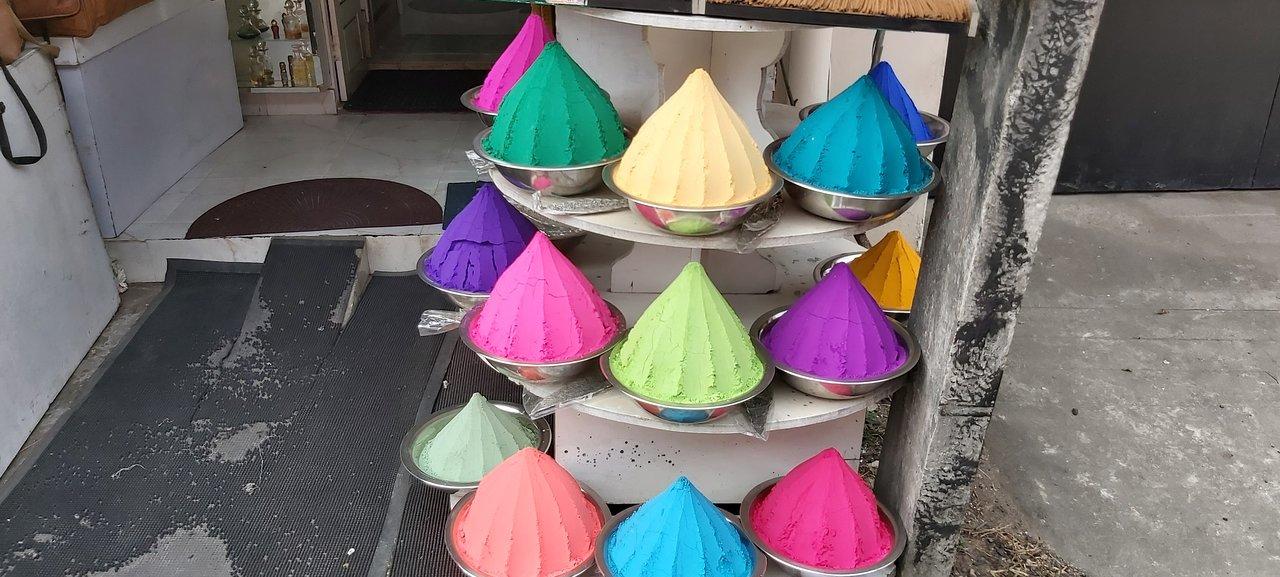 colourful incense outside