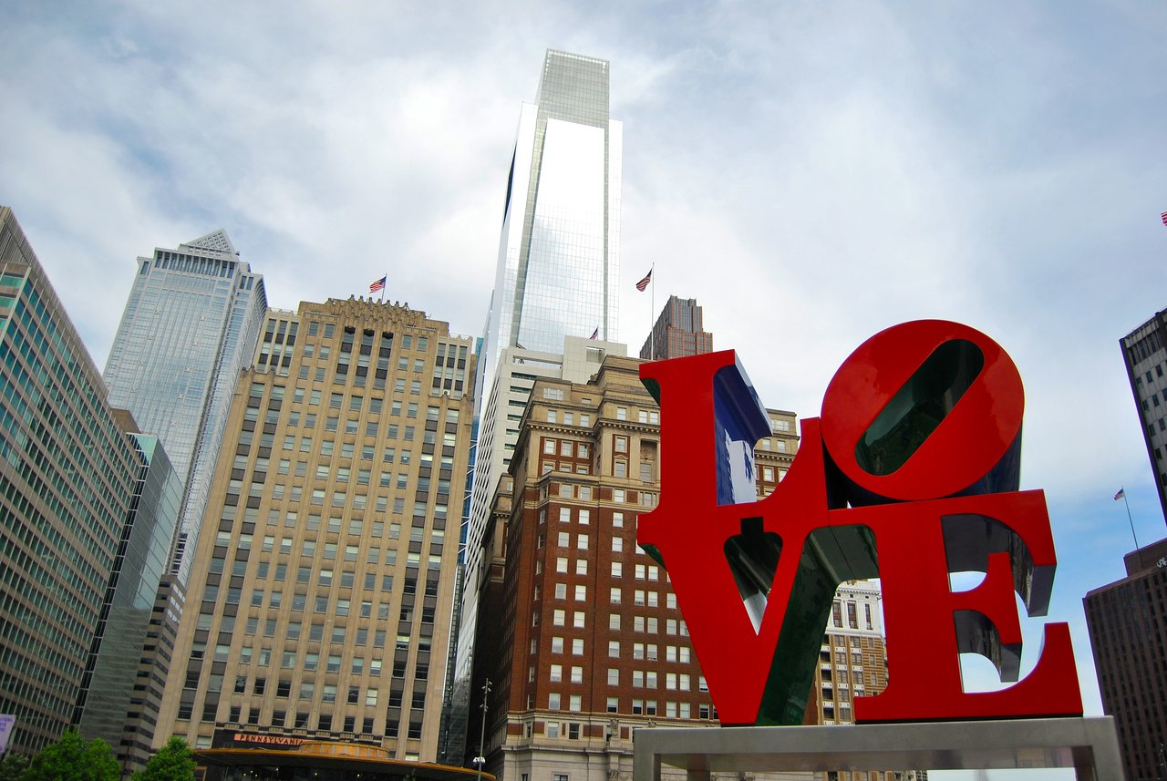 Philadelphia Love Statue by Robert Indiana Christmas Tree Ornament Philly Art