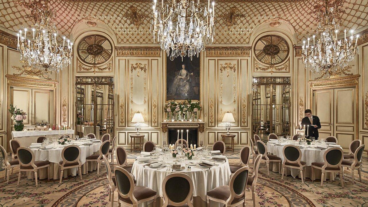 Le Meurice Salon Pompadour Dinner   Picture of Le Meurice, Paris ...