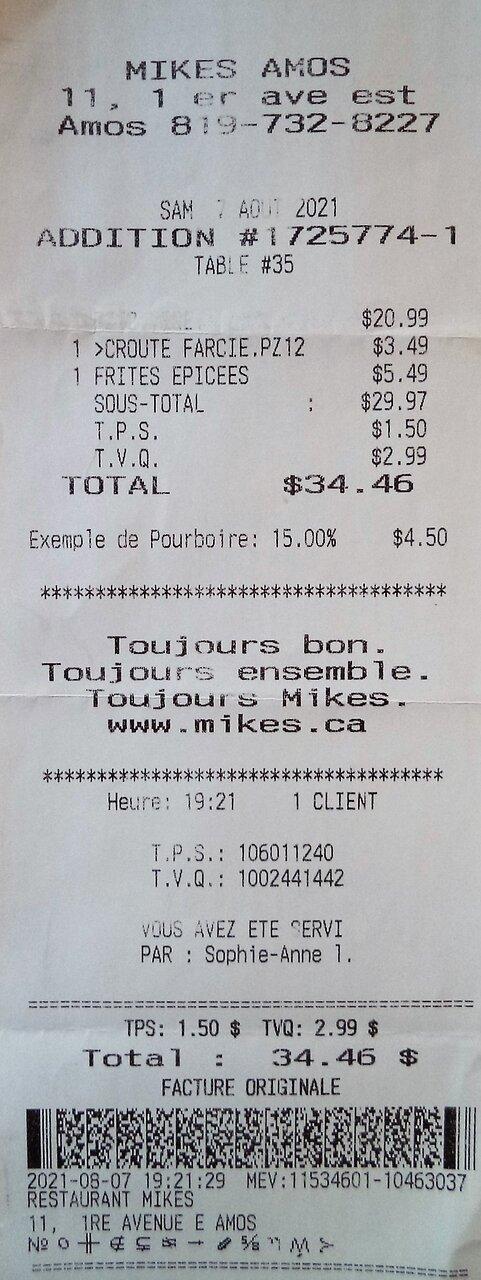 7 août 2021 / $34.46 par Sophie-Anne