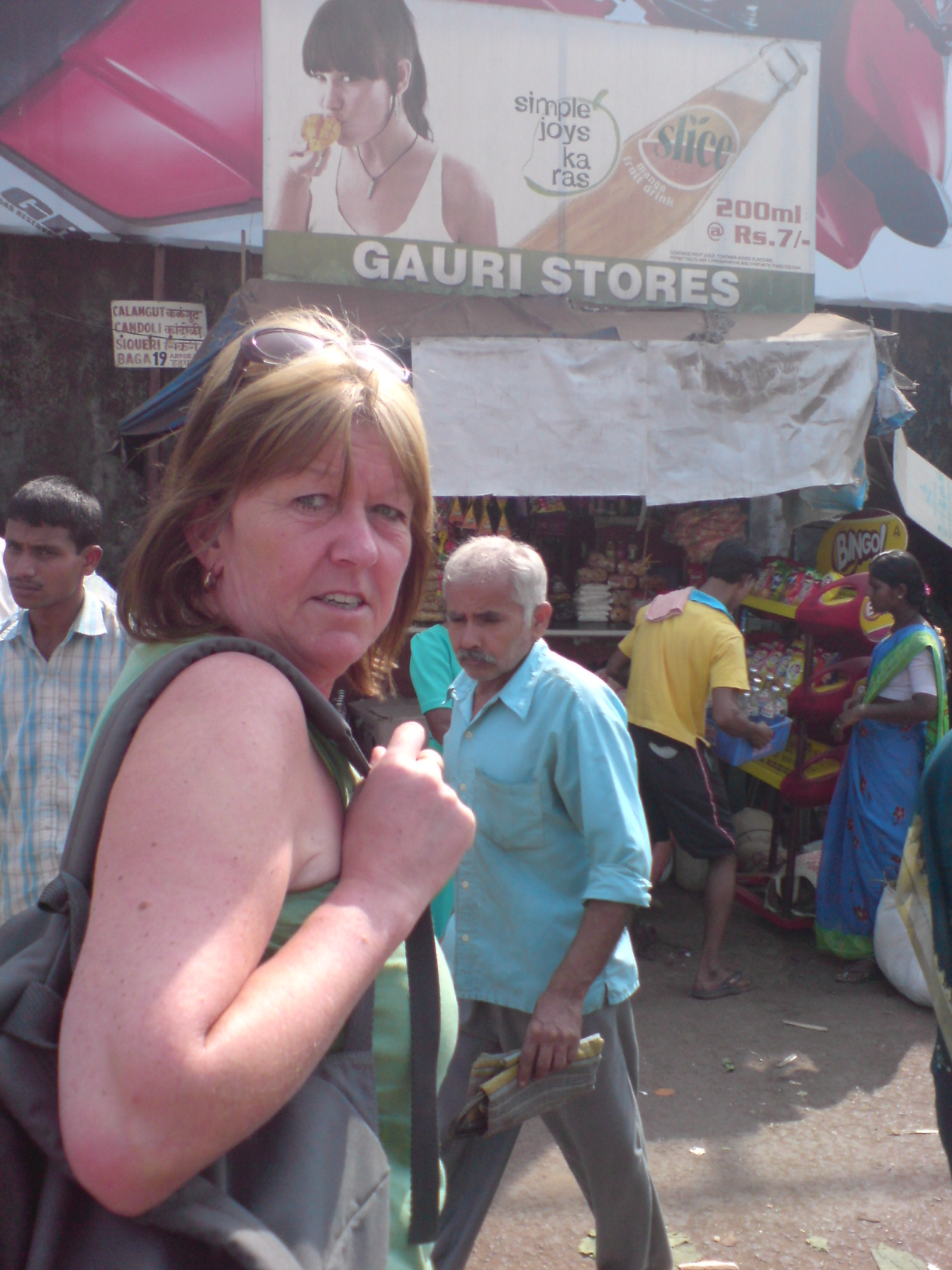 denise off to mapusa market