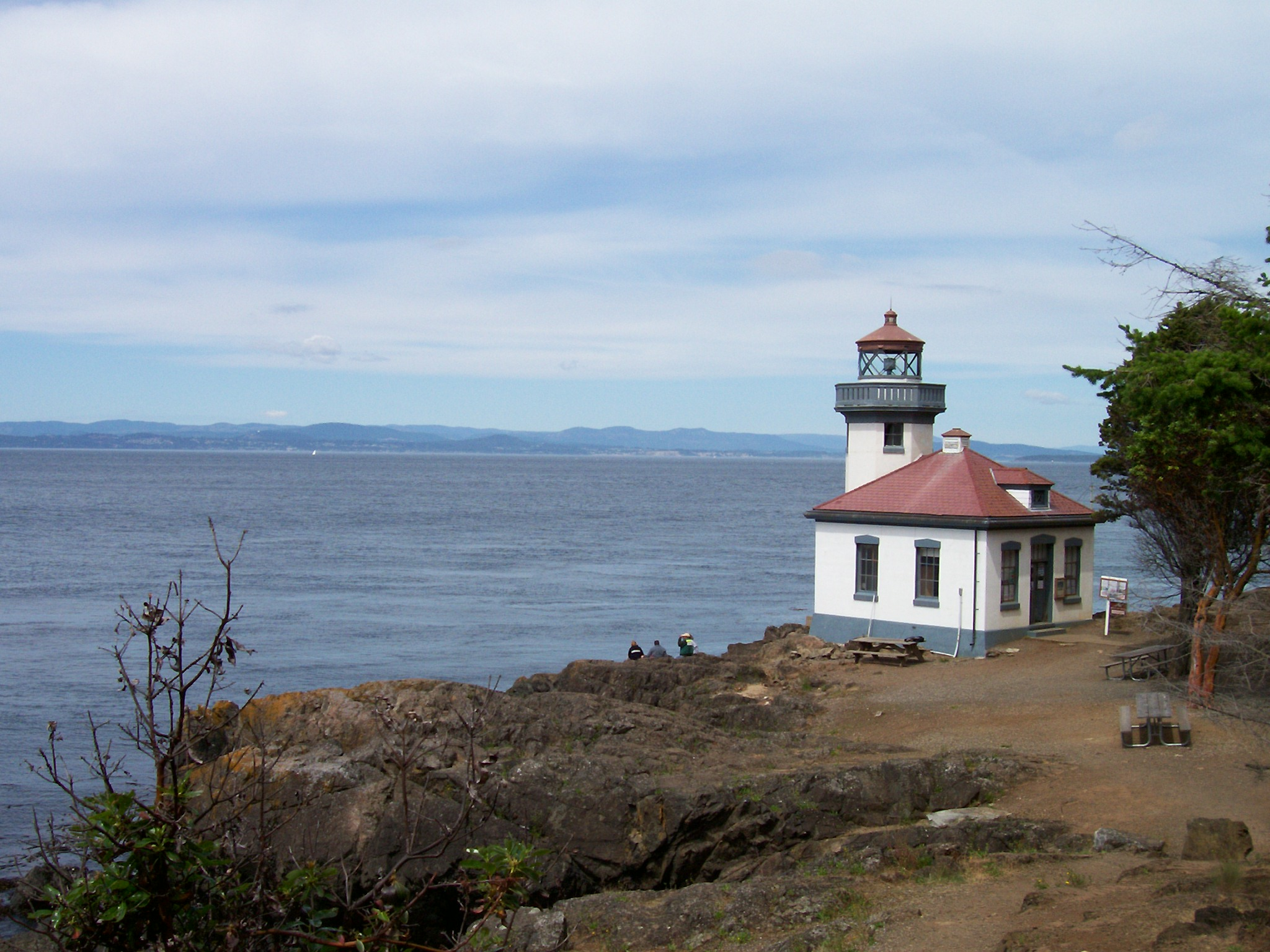One of the lighthouses at the whale park