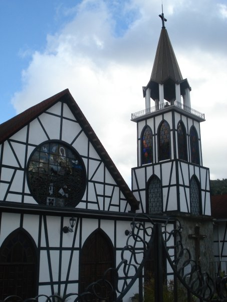 The church from Plaza Bolivar