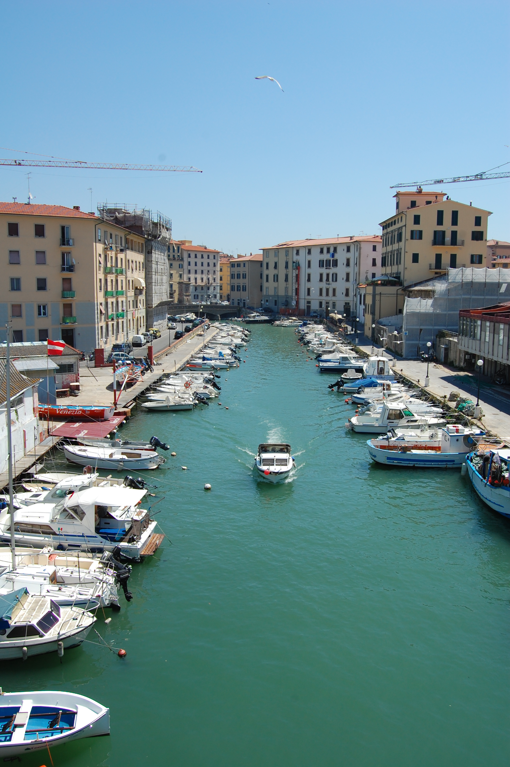 view of the river in Livorno, Italy