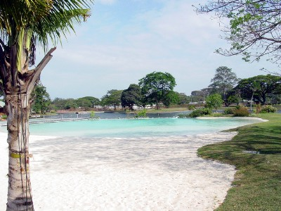 This was the white sand beach, all man made and really incredible to find this in clark.