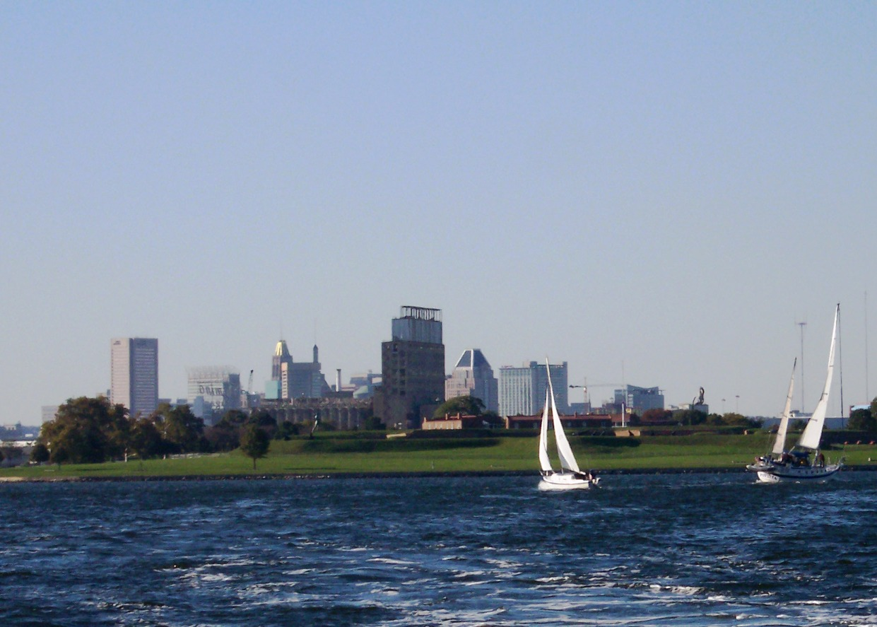 City behind Ft. McHenry