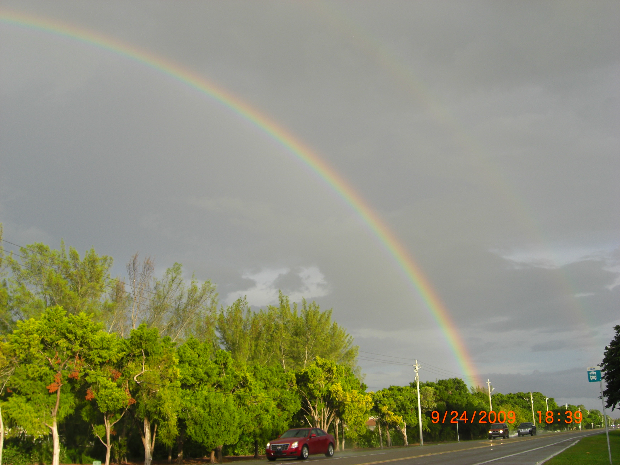 Double rainbow after a shower