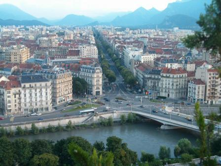 View Of Grenoble from La Bastille